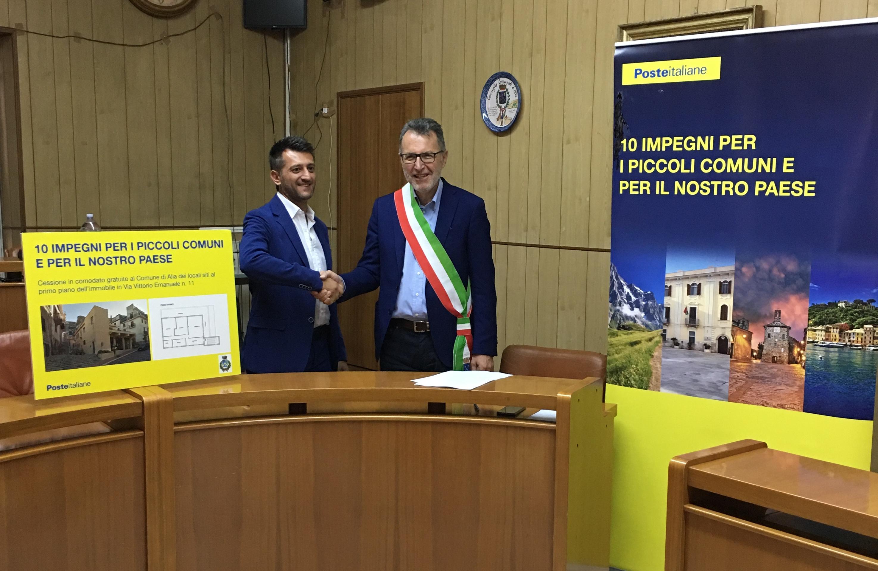 POSTE ITALIANE CEDE IN COMODATO GRATUITO ALCUNI LOCALI AL COMUNE DI ALIA
