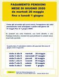 POSTE ALIA GIORNI APERTURA PAGAMENTO PENSIONI GIUGNO 2020