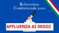 AFFLUENZA AI SEGGI REFERENDUM COSTITUZIONALE 20 E 21 SETTEMBRE 2020