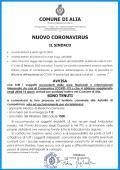 NUOVO CORONAVIRUS AVVISO DEL SINDACO ALLA CITTADINANZA.